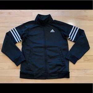 Adidas boys medium 10/12 track jacket sweatshirt
